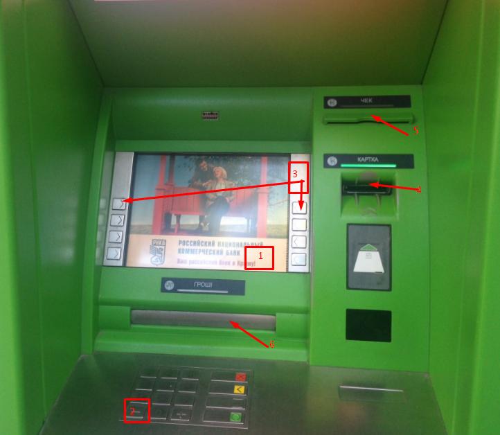 Вид банкомата